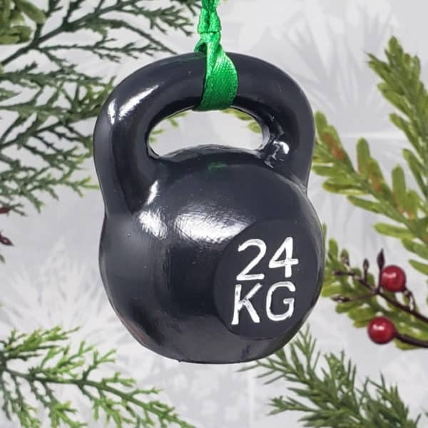Kettlebell Christmas Ornament Crossfit Decoration Strength Sports Decor Athlete Gift