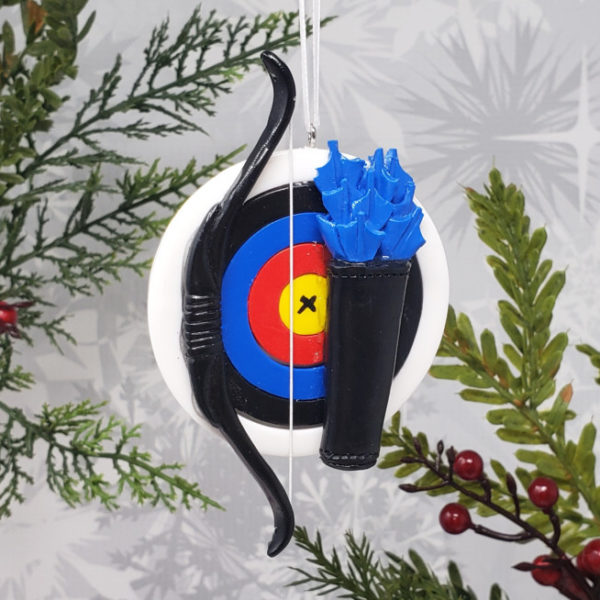 Archery Christmas Ornament Bow Arrow Hunter Hunting Gift Holiday Decoration Athletic Sports
