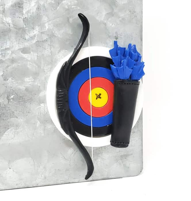 Archery Fridge Magnet Kitchen Decoration Outdoor sports Bow Arrow Target Hunting Gift