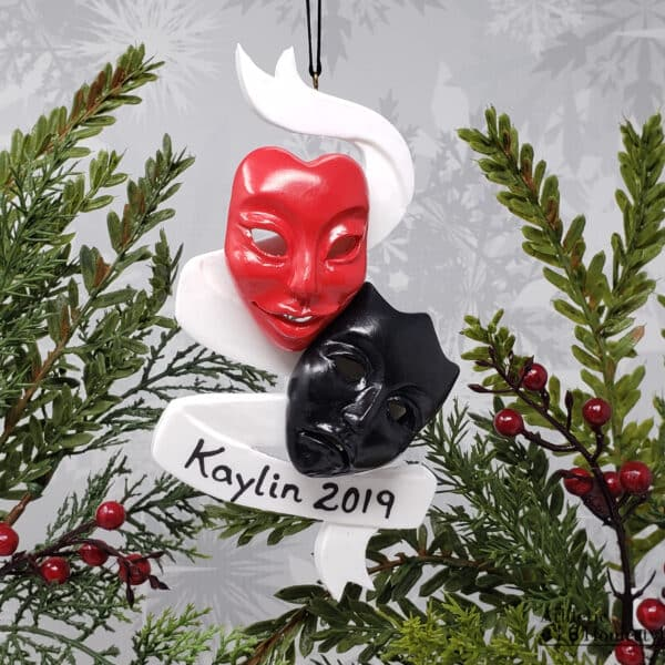 Broadway Theatre Masks Comedy Tragedy Drama Acting Actor Actress Christmas Ornament Decoration Decor Gift