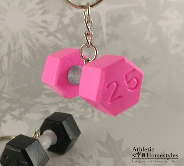 Dumbbell Keychain Gym Bag Accessory Powerlifting Bodybuilding Gift