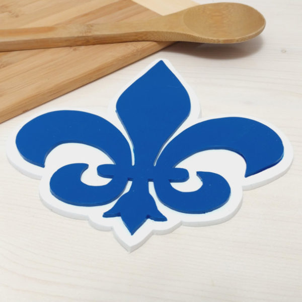 Fleur De Lis Trivet Silicone Hot Pad New Orleans France French Quebec National Flower