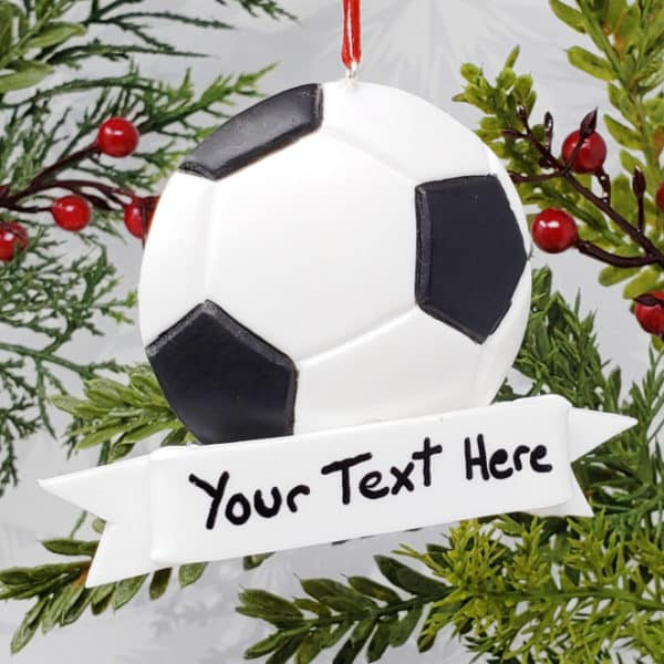 Soccer Ball Christmas Ornament Sports Decoration