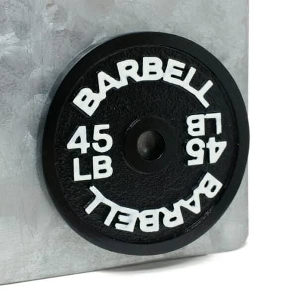 Barbell 45LB Fridge Magnet Weight Plate Kitchen Decoration Fitness Athlete Gift