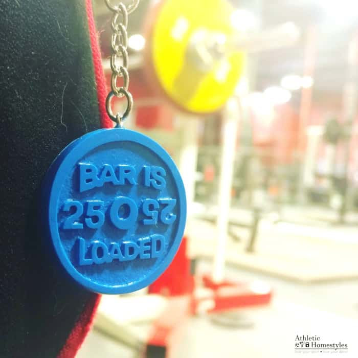 Barbell Bar is Loaded Keychain Gym Bag Accessory Backpack Charm Powerlifting Competitive Strength Athlete Gift