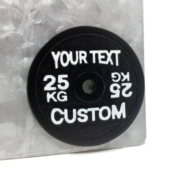 Your Text Custom Barbell Plate Christmas Ornament Fridge Magnet Unique Product Strongman Powerlifting Crossfit Weightlifting Staff Customer Gift