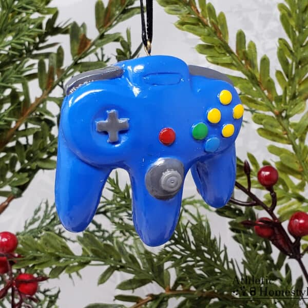 Nintendo N64 Game Console Controller Christmas Ornament Retro Gaming Decoration Gift Nerd Geek Mario Gaming