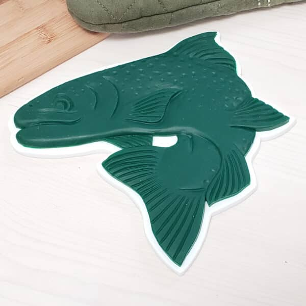 Fish Trivet Silicone Hot Pad Fisherman Father Day Gift for Dad